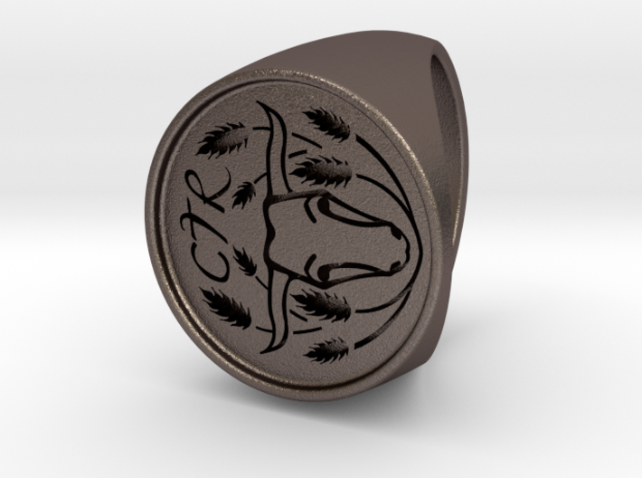 Custom Signet Ring 4 3d printed