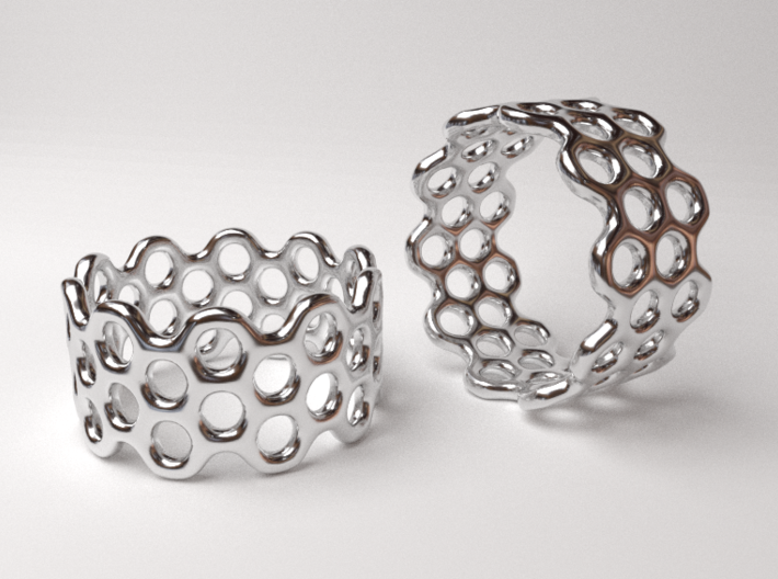 Dots Ring (Size 7) 3d printed