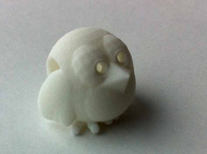 Flying Crumbz Pendant 3d printed White Strong & Flexible