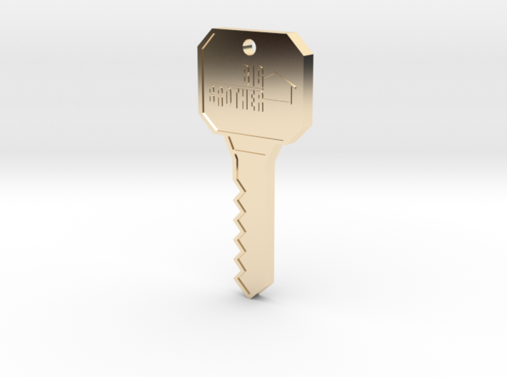 Big Brother Houseguest Key (Personalized Name!) 3d printed