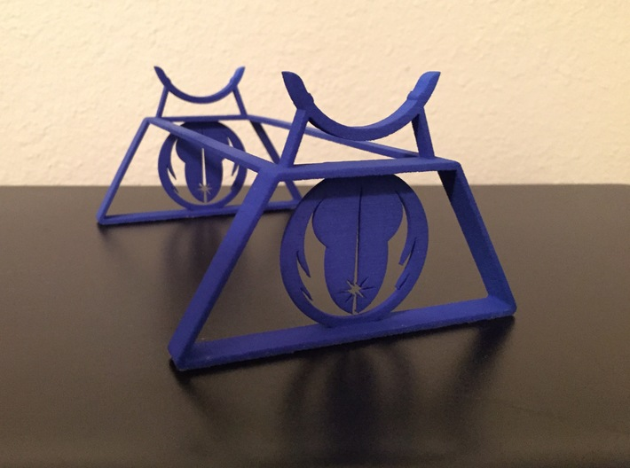 Jedi Saber Stand 3d printed Blue Strong and Flexible Polished