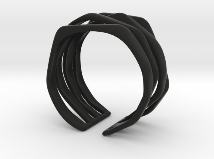 Rocker Coil Bracelet 3d printed