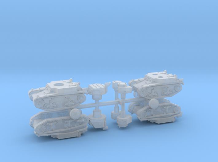 M1 & M2 Combat Cars / Light Tank 1/285 6mm 3d printed
