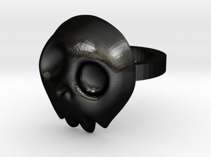Comic Skull Ring 3d printed