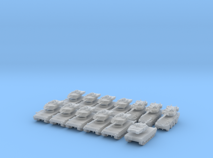 6mm 1/285 Italian Armoured Company 3d printed