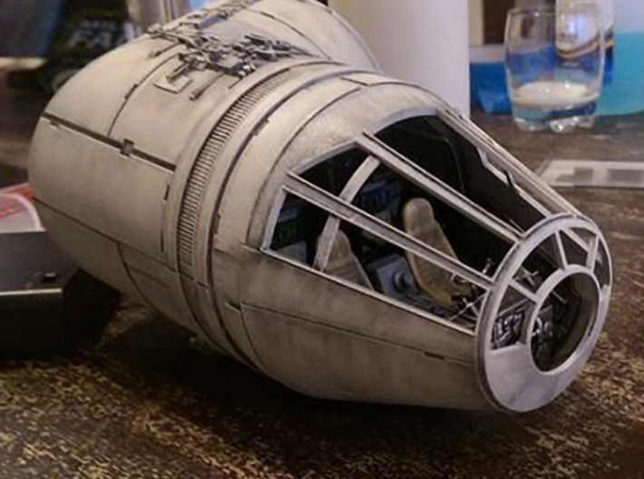 Millennium Falcon Nose Cone DeAg Studio Scale  3d printed Printed and painted example of the nose cone.