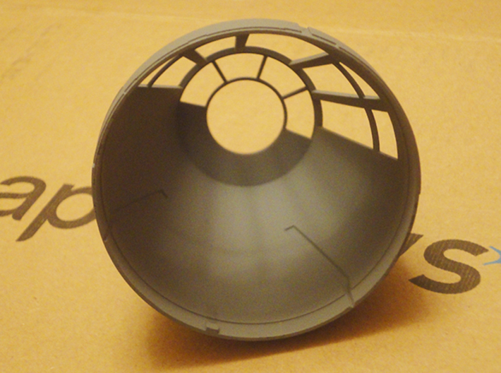 Millennium Falcon Nose Cone DeAg Studio Scale  3d printed This is the actual printed part in grey primer and on the Deagostini model.