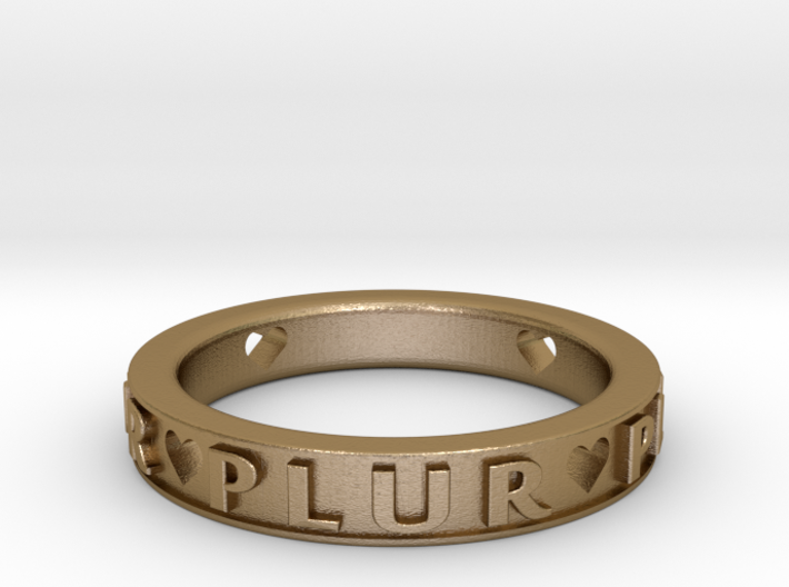 Plur Ring - Size 7 3d printed