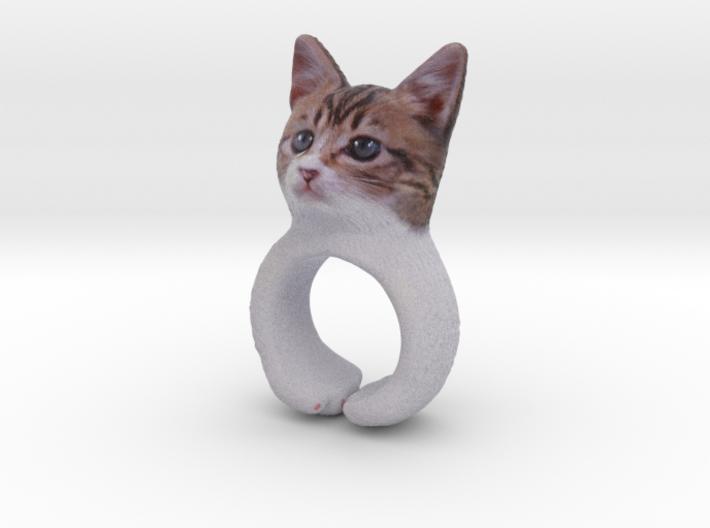 Cat Ring 3d printed