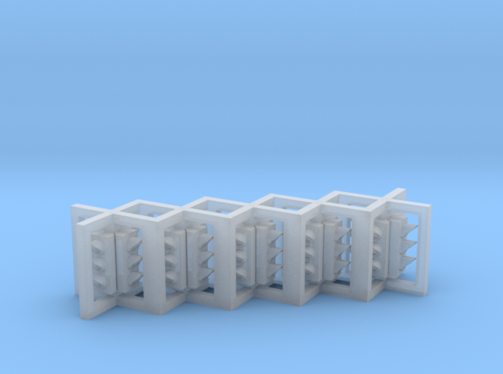 N Scale Traffic Lights 4D (5pc) 3d printed
