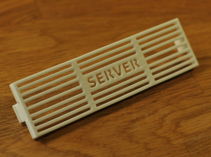 Custom Antec NSK2400 Slot Air Vent Cover 3d printed Slot air vent cover (front side)