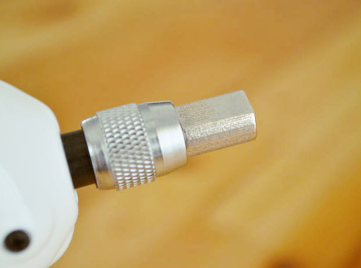 """Coffee Grinder Bit for Drill Driver CDR-RE 3d printed Set image (Quick-change 1/4"""" hex chuck)"""