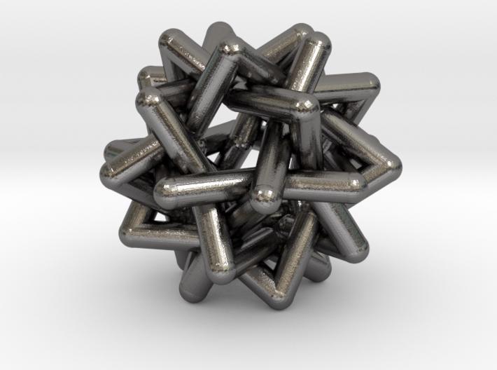 Six Tangled Stars 3d printed