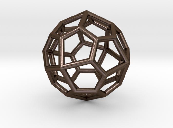 Pentagonal Icositetrahedron Pendant 3d printed
