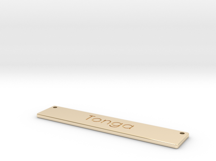 Tonga Name Plate Necklace 3d printed