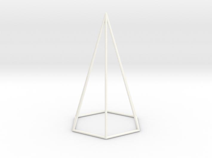 Pyramis Laterata Exagona Vacua 3d printed