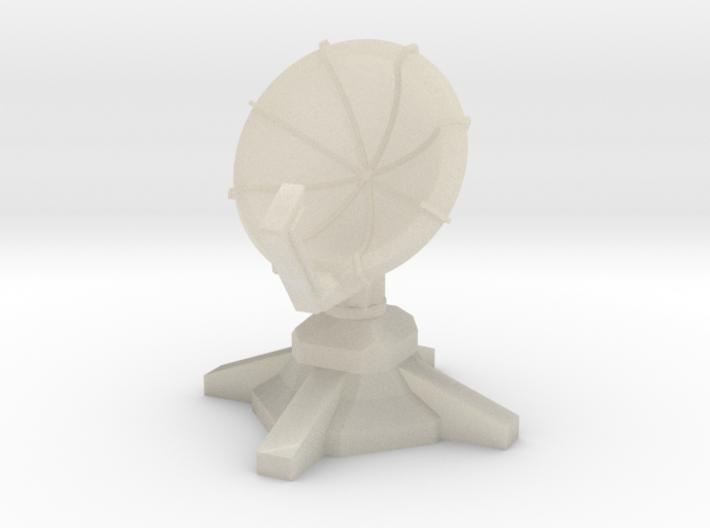 Radar Turret (1/285) 3d printed