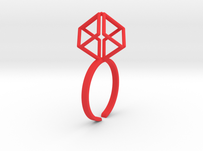 Dynamic Diamond Cube 3d printed