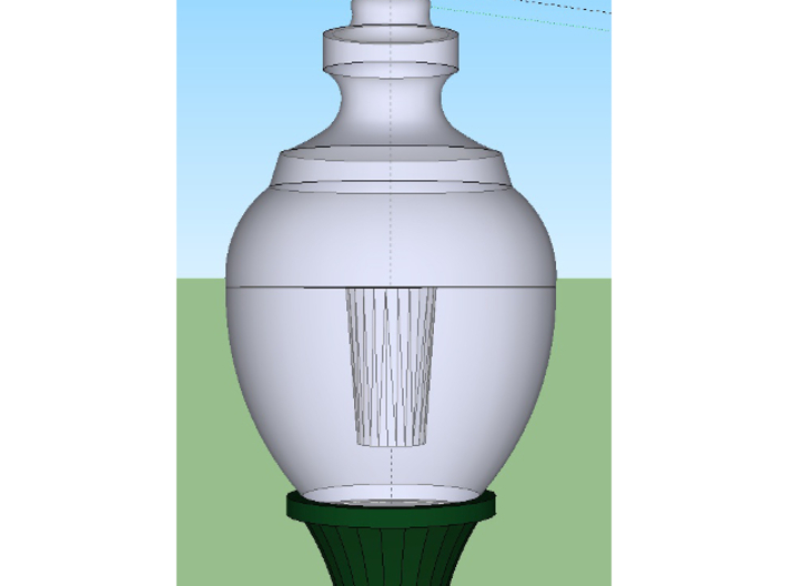 HO Scale Streetlight 01 x 24 3d printed