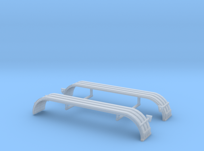 1/64th UFS Triaxle Fenders Ribbed w lights 3d printed