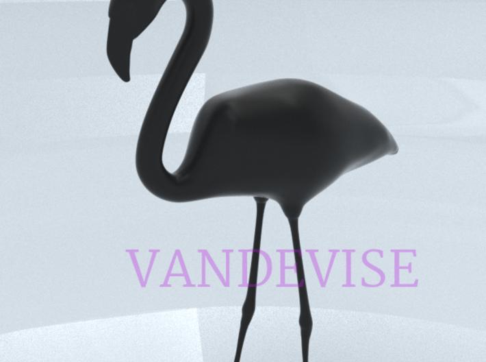 Flamingo - One Color  3d printed