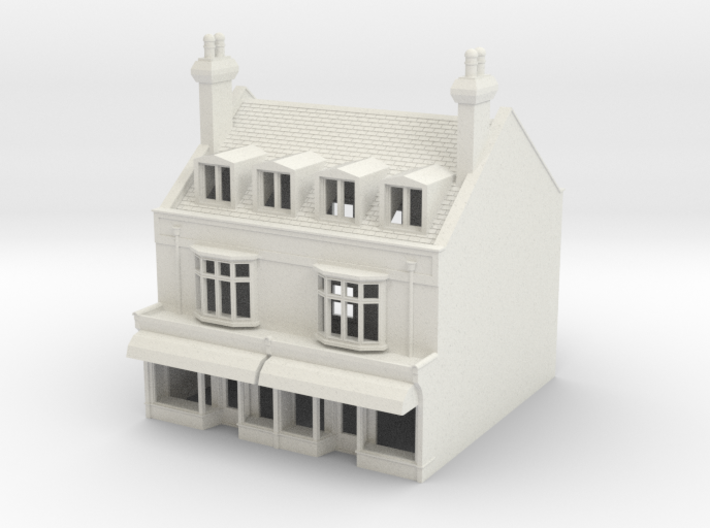 HHS-6 N Scale Honiton High street building 1:148 3d printed