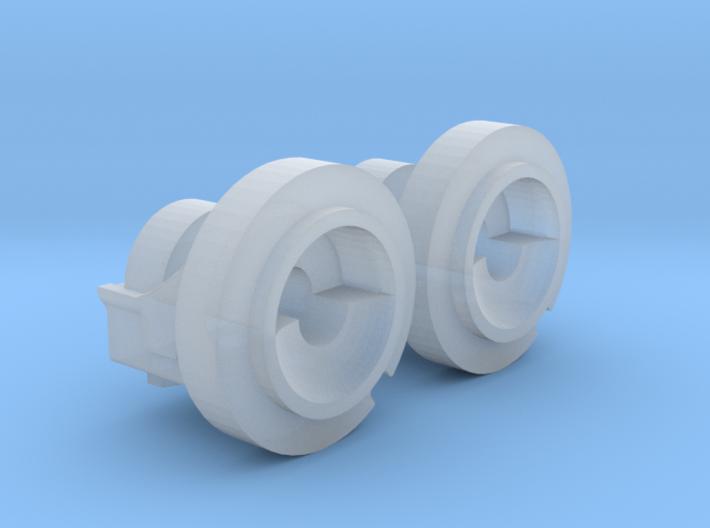 1:64 IH Dual Hub Pair 3d printed