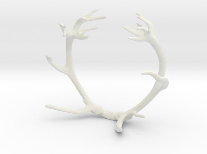 Red Deer Antler Bracelet 3d printed