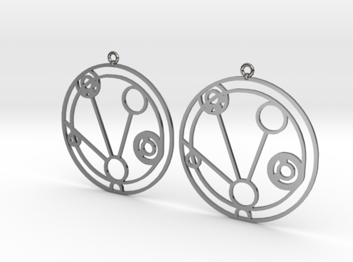 Mackenzie - Earrings - Series 1 3d printed