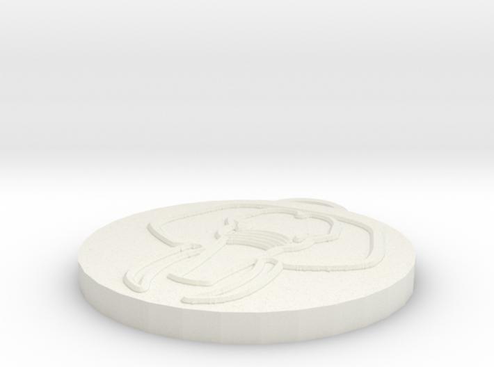 Pendant Elephant Head 3d printed