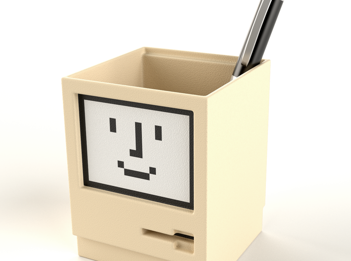 Apple Macintosh pen / card holder 3d printed Wouldn't this look great on your desk, table or cupboard?