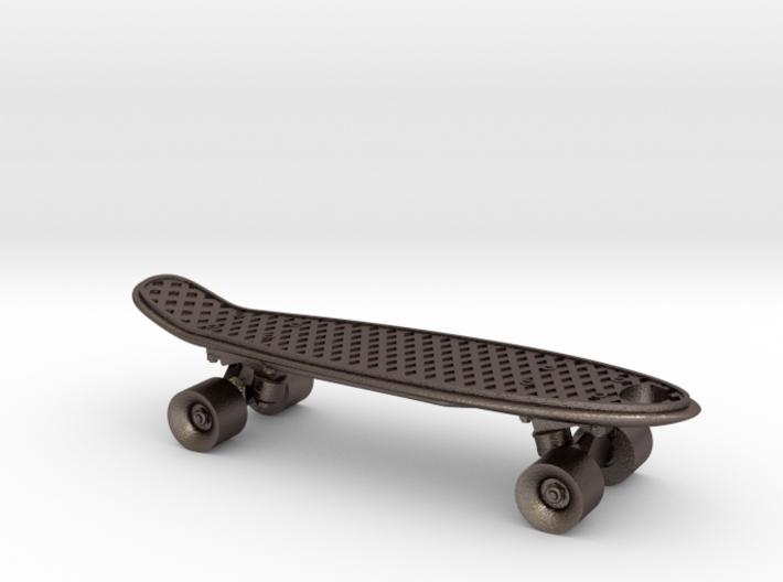 Mini Penny Board - 3D Printed in Stainless Steel 3d printed