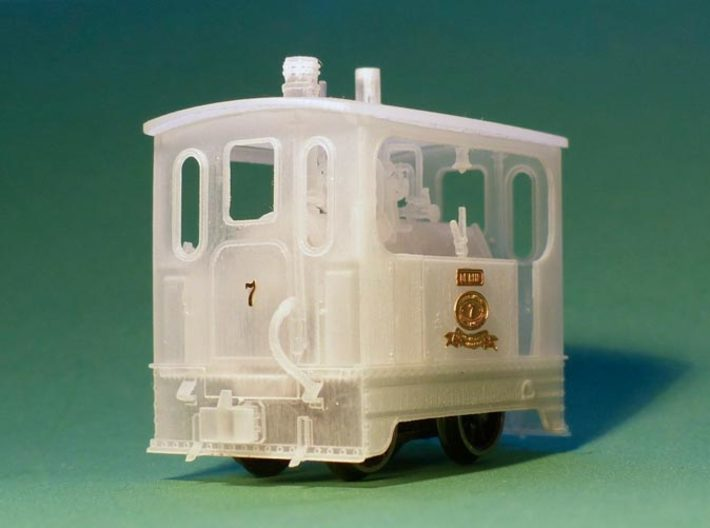 Scale 1:87 Tramway loco interior 3d printed An example