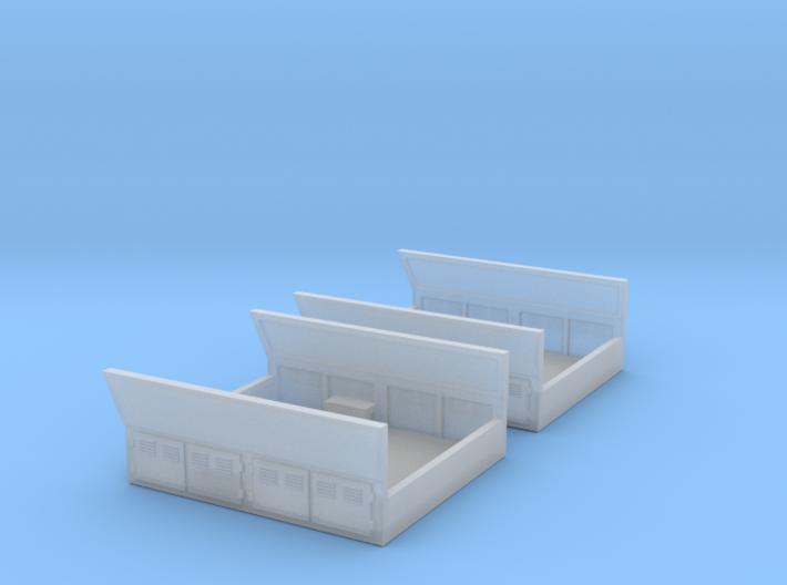 GE Gas Turbine Battery Box x2 - (N Scale) 1:160 3d printed