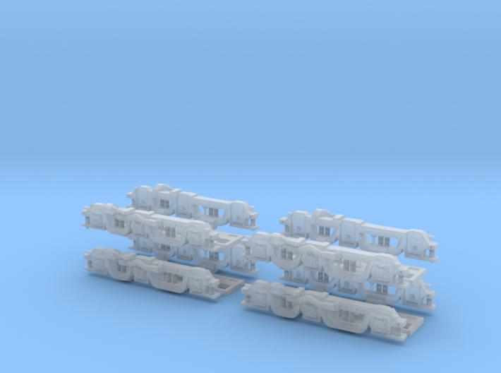 Baldwin RT-624 Side Frames X4 N Scale 1:160 3d printed