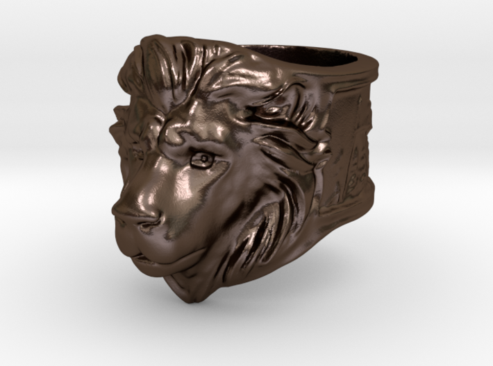 Wilds of Organica - Lion Ring (size 8) 3d printed