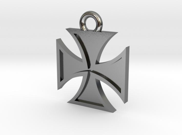 Iron Cross Pendant 2 3d printed