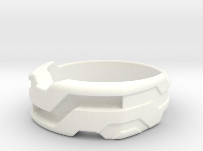 US13 Ring XXI: Tritium (Silver) 3d printed