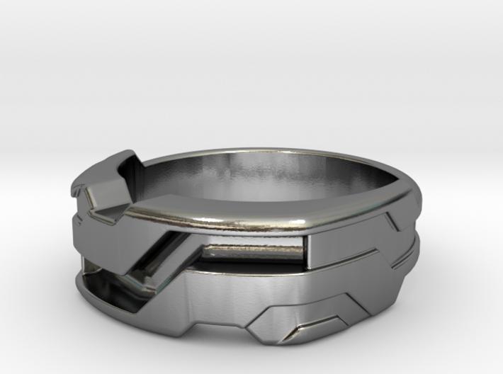 US12.5 Ring XXI: Tritium (Silver) 3d printed