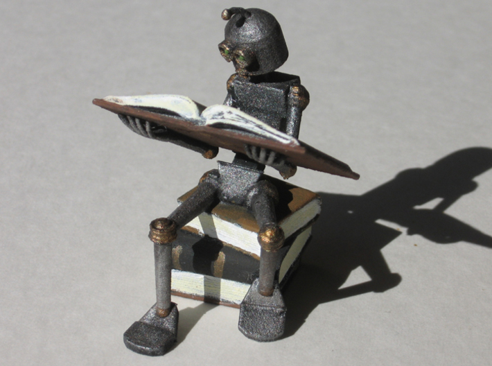 Studious Robot 3d printed Painted WSF