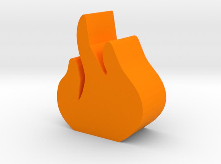 Game Piece, Flame Token 3d printed