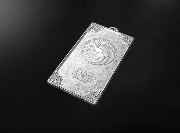 Game of Thrones - Targaryen Pendant 3d printed