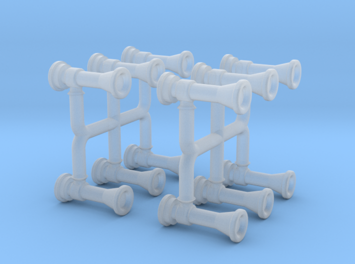 Locomotive Chime Horns Type 1-1 N Scale 3d printed
