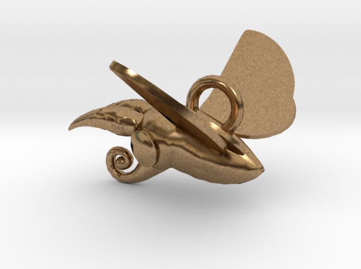 New Zealand Puriri Moth charm 3d printed