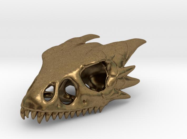 Wyvern Skull Pendant 3d printed