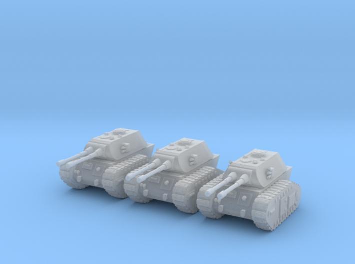 6mm Dieselpunk E-80 tanks 3d printed