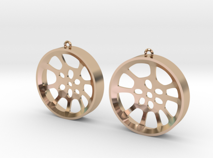 "Double Seconds ""void"" steelpan earrings, L 3d printed"