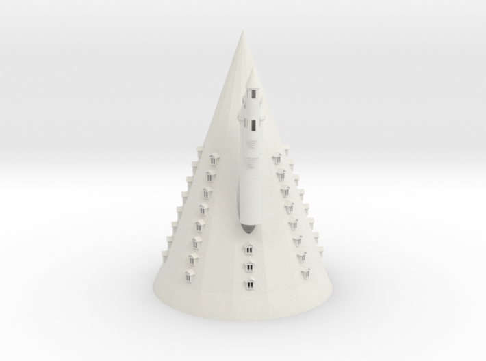Hogwarts 3 big towers roofs / Windows Cross 0,8mm 3d printed