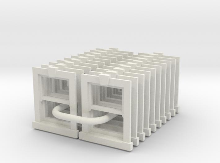 Sash Window X1 - 900 X 1200 (set of 20) - 4mm Scal 3d printed