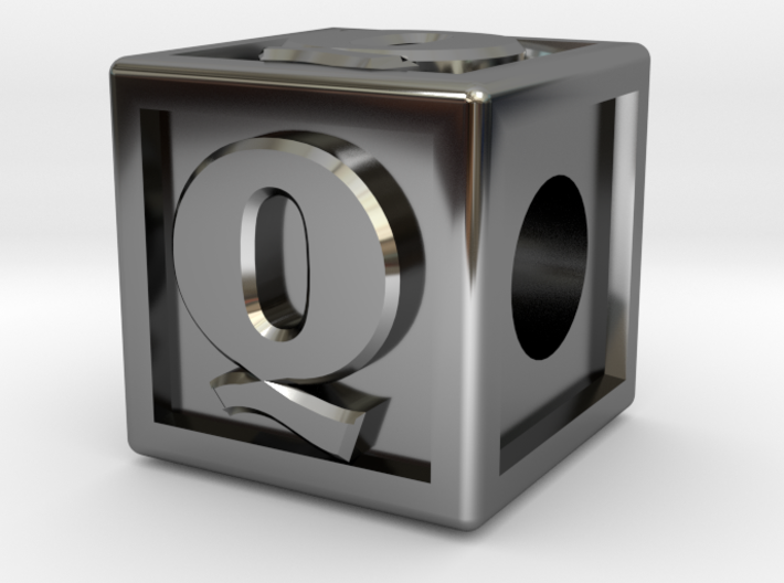 """Name Pieces; Letter """"Q"""" 3d printed"""